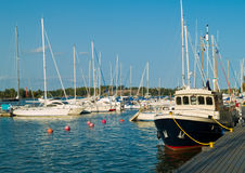 Porto de Helsínquia fotografia de stock royalty free