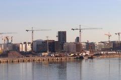 Porto de Helsínquia em Finlandia no feriado fotos de stock royalty free