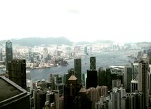 Porto de Hong Kong e de victoria Imagens de Stock