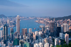Porto de Hong Kong Victoria Foto de Stock Royalty Free