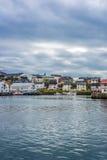 Porto de Honningsvag na marca finlandesa, Noruega Fotografia de Stock