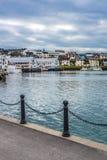 Porto de Honningsvag na marca finlandesa, Noruega Fotos de Stock