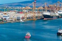 Porto de Honolulu imagem de stock