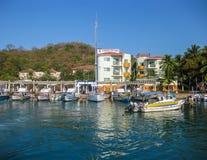 Porto de Huatulco imagem de stock
