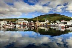 Porto de Husavik imagem de stock royalty free