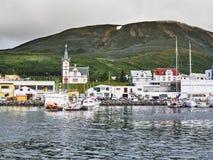 Porto de Husavik, Islândia Fotos de Stock Royalty Free