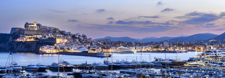 Porto de Ibiza Imagens de Stock Royalty Free