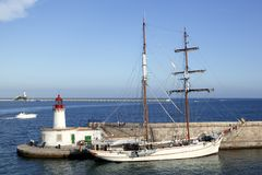 Porto de Ibiza de Balearic Island em Spain Fotografia de Stock