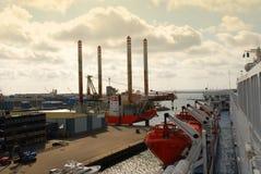 Porto de Ijmuiden, Holland Fotos de Stock Royalty Free