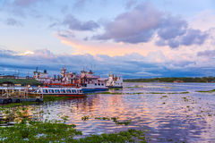 Porto de Iquitos, Peru imagens de stock