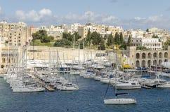 Porto de Kalkara com os iate em Malta imagem de stock royalty free