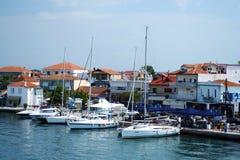 Porto de Keramoti imagem de stock