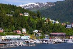Porto de Ketchikan Alaska imagens de stock