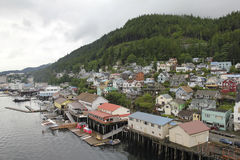 Porto de Ketchikan em Alaska Imagens de Stock