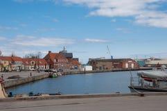 Porto de Koge em Dinamarca Fotografia de Stock Royalty Free