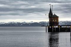 Porto de Konstanz no lago Constance fotos de stock royalty free