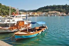 Porto de Lakka, Paxos Fotografia de Stock