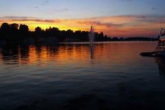 Porto de Lappeenranta, Finlandia no por do sol fotos de stock