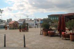Porto de Limassol em dezembro imagens de stock
