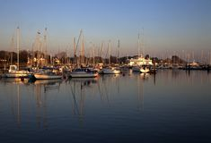 Porto de Lymington no por do sol Fotografia de Stock Royalty Free