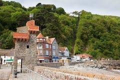 Porto de Lynmouth em Devon Reino Unido imagem de stock