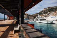 Porto de Mônaco do passeio do beira-mar foto de stock royalty free