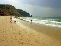 Porto de Mós Beach Royalty Free Stock Photo