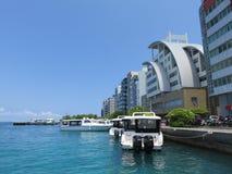 Porto de Malé, ilhas de Maldivas fotos de stock royalty free