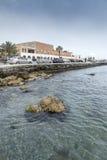 Porto de Mandraki do porto do porto da cidade do Rodes fotografia de stock royalty free