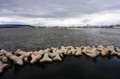Porto de Minimalistic de Varna Fotografia de Stock Royalty Free