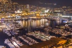 Porto de Monte - Carlo, Mônaco Imagens de Stock Royalty Free