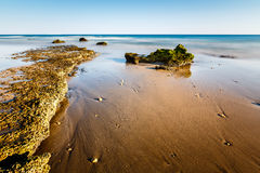 Porto de Mos Beach in Lagos, Algarve Royalty Free Stock Photo
