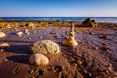 Porto de Mos Beach in Lagos, Algarve Stock Photography