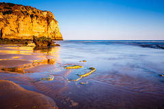 Porto de Mos Beach in Lagos, Algarve Royalty Free Stock Photography