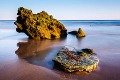 Porto de Mos Beach in Lagos, Algarve Stock Photography