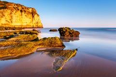 Porto de Mos Beach in Lagos, Algarve Stock Photos