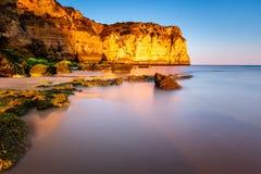 Porto de Mos Beach in Lagos, Algarve Royalty Free Stock Image