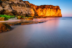 Porto de Mos Beach in Lagos, Algarve Stock Photo