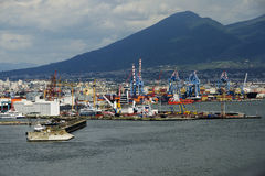 Porto de Nápoles foto de stock royalty free