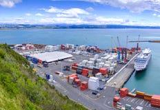 Porto de Napier em Nova Zelândia Fotografia de Stock