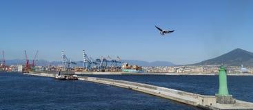 Porto de Napoli imagens de stock