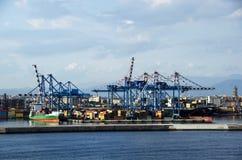 Porto de Nápoles no por do sol Fotos de Stock