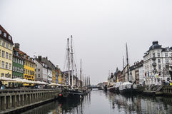 Porto de Nyhavn Foto de Stock Royalty Free