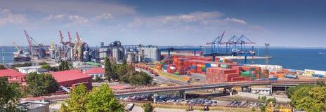 Porto de Odessa em Ucrânia fotos de stock royalty free