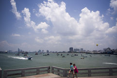 Porto de Pattaya foto de stock