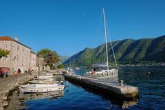 Porto de Perast, Montenegro imagens de stock
