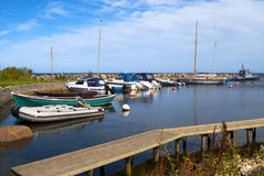 Porto de pesca Fotos de Stock Royalty Free