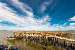 Porto de pesca antigo de Carrasqueira Fotos de Stock