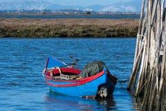 Porto de pesca antigo de Carrasqueira Fotografia de Stock Royalty Free