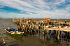 Porto de pesca antigo de Carrasqueira Imagens de Stock